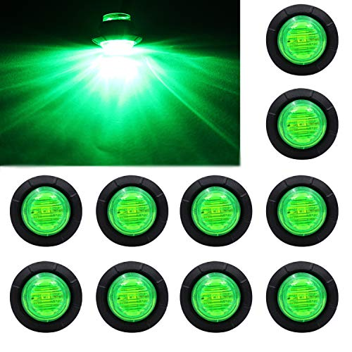Purishion 10x 3  4 U2033 U201d Round Led Clearence Light Front Rear